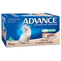 Advance Adult Cat Chicken and Salmon Medley- Wet - (7 x 85g)