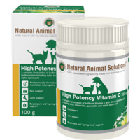 High Potency Vitamin C for dogs, cats and horses - 100g - Natural Animal Solutions