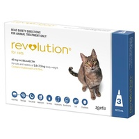 Revolution for Cats 2.6-7.5 kgs - 3 Pack - Blue