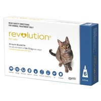 Revolution for Cats 2.6-7.5 kgs - 6 Pack - Blue - 1 Extra Vial Free