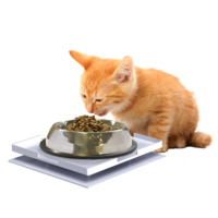 Ant Proof Plate for Dog & Cat Food Bowl - Square