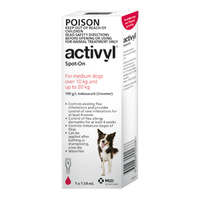 Activyl for Medium Dogs 10-20 kgs - 12 Pack - Red
