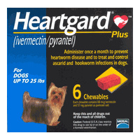 Heartgard Plus for Dogs up to 11 kgs - 12 Pack - Blue - Heartworm Control Treatment
