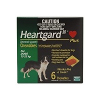 Heartgard Plus for Dogs 12-22 kgs - 12 Pack - Green - Heartworm Control Treatment