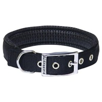 Prestige Pet Soft Padded Nylon Dog Collar - Black