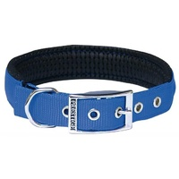 Prestige Pet Soft Padded Nylon Dog Collar - Blue
