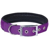 Prestige Pet Soft Padded Nylon Dog Collar - Purple