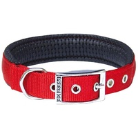 Prestige Pet Soft Padded Nylon Dog Collar - Red