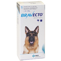 Bravecto for Large Dogs 20-40 kg - Blue - 2 Tablets (6 months)