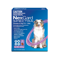 NexGard SPECTRA for Dogs 15.1-30 kg - 12 Pack - Purple