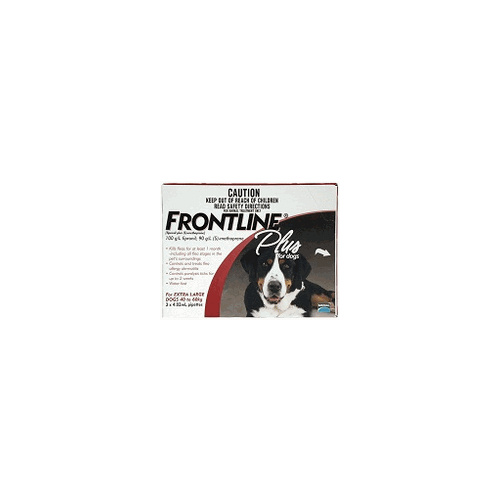 Frontline Plus for Extra Large Dogs 40-60 kgs - 12 Pack - Red - Flea & Tick Control