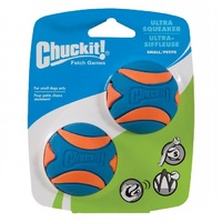 ChuckIt Ultra Squeaker Dog Ball - Small - 2 Pack