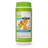 Petkin Bamboo Eco Pet Eye Wipes - 80 Pack