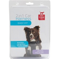 ALLPET 2 in 1 Dog Car Harness - Medium - Up to 15kg