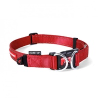 Ezydog Double Up Dog Collar - Medium (29-40cm) - Red