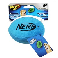 NERF Dog Plush Retriever Football - Medium (12.7cm) - Blue
