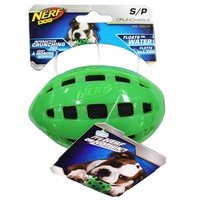 NERF Dog Crunchable Football - Small (10.2cm) - Green