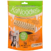 KaNoodles Premium Dental Chew & Treat - Large - 16 Pack (340g)