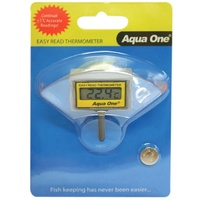 Aqua One Easy Read LCD Thermometer for Inside of Fish Tanks
