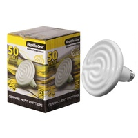 Reptile One Ceramic Heat Lamp (50 Watt) Eddison Screw Fitting