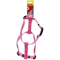 Pet One Reflective Adjustable Nylon Dog Harness - 40-65cm x 25mm - Pink