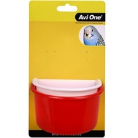 Avi One Plastic D Bird Feeder - 2 Pack - Large (11cm & 11.5cm)