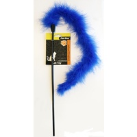 Pet One Interactive Cat Wand - Blue Feather