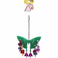 Avi One Bird Toy Acrylic Butterfly with Bells