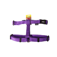 Pet One Reflective Adjustable Nylon Dog Harness - 40-65cm x 25mm - Purple