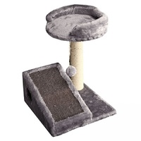 Pet One Cat Scratching Tree With Ramp And Ball - 35x35x42cm (grey)