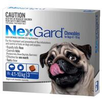 NexGard for dogs 4.1-10 kgs - Blue - 3 Pack