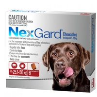 NexGard for dogs 25.1-50 kgs - Red - 6 Pack