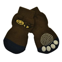 Non-Slip Dog Socks - Brown Bee - 4X-Large (6x18cm)