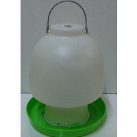 Poultry Chicken Waterer - White & Green - 6.5L