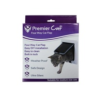 Premier Pet Cat Door with Flap 4 Way Lock - Medium Cats (21cm x 21cm)