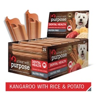 Evolution Dental Dog Treat - Kangaroo with Rice & Potato - Single Stick