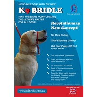 K9 Bridle for Dogs - Small (Black)